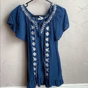 Blu pepper blouse